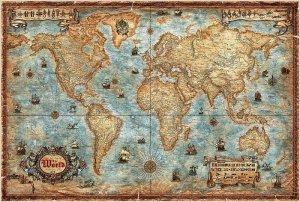 Svět - nástěnná mapa v historickém stylu (Ray World) (1)