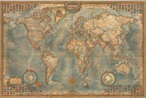 Svět - nástěnná mapa v historickém stylu (Ray World Executive) (1)