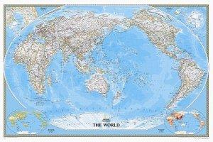 Svět - nástěnná politická mapa Classic Pacific 112 x 76 cm (1)