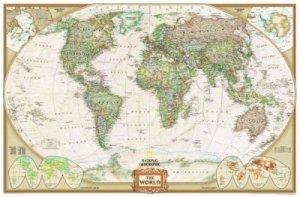 Svět - nástěnná politická mapa Executive 116 x 77 cm (1)