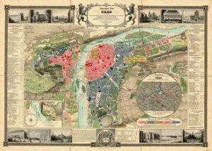 Praha 1847 - nástěnná mapa (1)