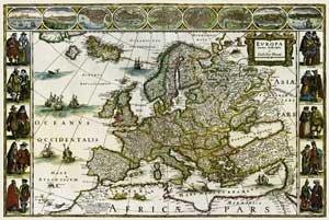 Evropa historická - nástěnná mapa (1)