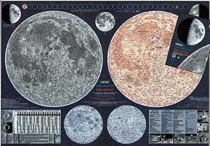 Měsíc - nástěnná mapa (1)