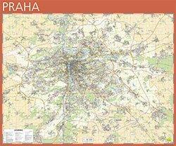 Praha - nástěnná mapa Žaket v měřítku 1: 20 000 (1)