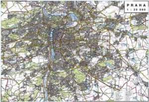 Praha - nástěnná mapa (1)