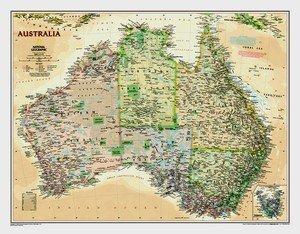 Austrálie - nástěnná mapa National Geographic (1)