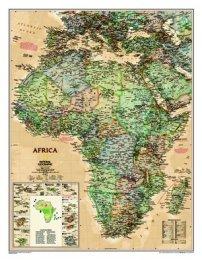 Afrika - nástěnná mapa National Geographic (1)