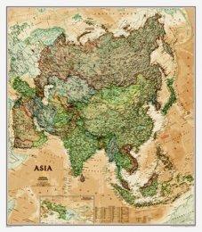 Asie - nástěnná mapa National Geographic (1)