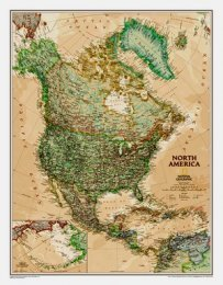 Severní Amerika - nástěnná mapa National Geographic (1)