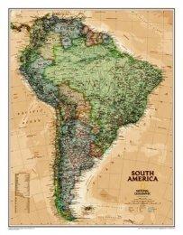 Jižní Amerika - nástěnná mapa National Geographic (1)