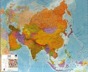 Asie - politická nástěnná mapa (1)
