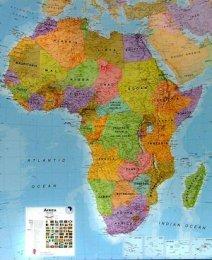 Afrika - politická nástěnná mapa (1)