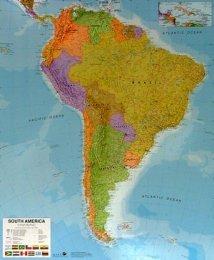 Jižní Amerika - politická nástěnná mapa (1)