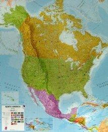 Severní Amerika - politická nástěnná mapa (1)