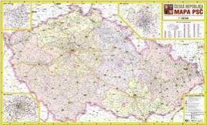 Česká republika PSČ (2008) - nástěnná mapa (1)