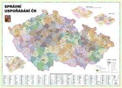 Správní uspořádání ČR v měřítku 1: 400 000 nástěnná mapa Žaket (1)