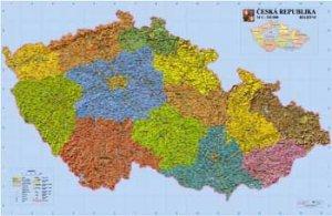 Česko - reliéfní nástěnná mapa (1)