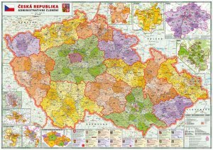 Česká Republika Administrativní velká - nástěnná mapa (1)
