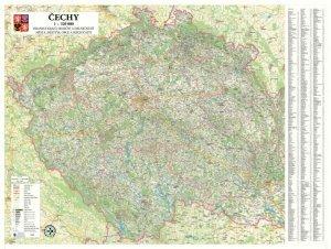 Čechy - nástěnná mapa 1:320 000 (1)