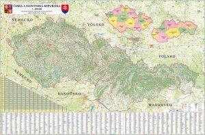 ČR + SR - nástěnná mapa 1:400 000 (1)