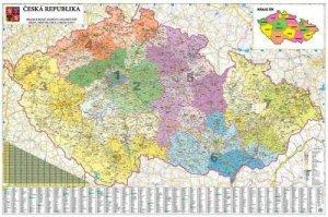 Česká republika PSČ - nástěnná mapa 1:250 000 (1)