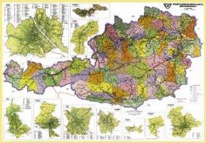 Rakousko spediční - nástěnná mapa (1)