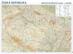 Česko - fyzická nástěnná automapa (1)