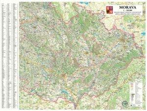 Morava - nástěnná mapa 1:240 000 (1)