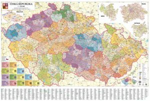 Česká republika administrativní Střední - nástěnná mapa (1)
