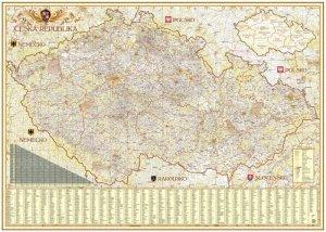 ČR exclusive - nástěnná mapa 1:350 000 (1)