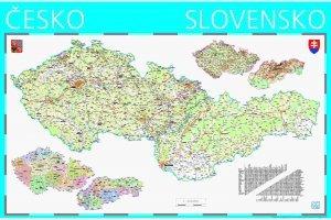 Nástěnná mapa Česko a Slovensko (1)