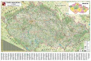 ČR - nástěnná mapa 350 - nástěnná mapa (1)