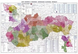 Slovensko administrativní - nástěnná mapa (1)