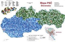 Slovensko PSČ - nástěnná mapa malá (1)