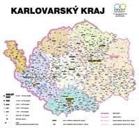 Správní uspořádání - Karlovarský kraj v měřítku 1: 100 000 nástěnná mapa Žaket (1)