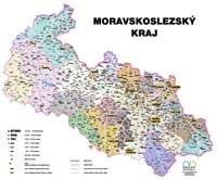Správní uspořádání - Moravskoslezský kraj v měřítku 1: 120 000 nástěnná mapa Žaket (1)