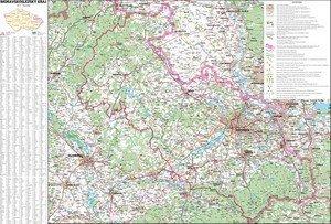Moravskoslezský kraj - nástěnná mapa (1)