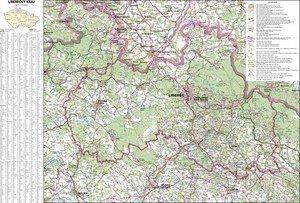 Liberecký kraj - nástěnná mapa (1)