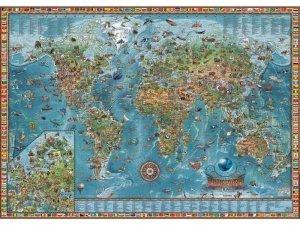 Amazing World - nástěnná ilustrovaná mapa (anglicky) (1)