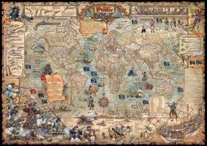 PIRÁTI - nástěnná mapa pro děti 120 x 85 cm (1)
