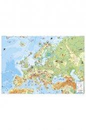 AKN Dětská mapa Evropy lamin. s lištou v tubusu (F & B) (1)