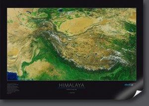 Himálaj - satelitní mapa (1)