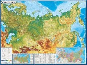 Rusko - obecně zeměpisná nástěnná mapa 160 x 120 cm (1)