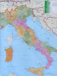Itálie Spediční  - nástěnná mapa (1)