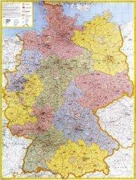 Německo spediční s PSČ - nástěnná mapa (1)