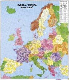 Evropa spediční s PSČ - nástěnná mapa (1)