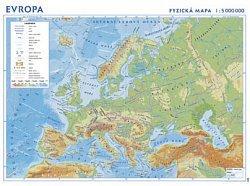 Evropa - zeměpisná nástěnná mapa (1)