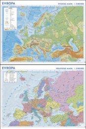 Evropa - zeměpisná a politická nástěnná mapa (1)