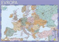 Evropa - nástěnná mapa Žaket v měřítku 1: 4 000 000 (1)