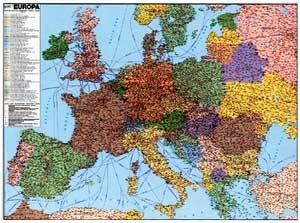 Evropa železniční - nástěnná mapa (1)
